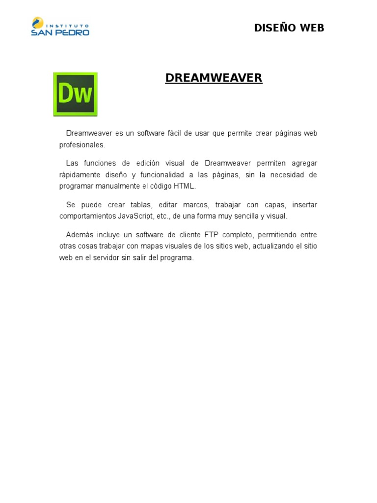 Dreamweaver Adobe Dreamweaver Html