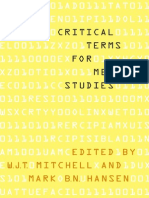 Mitchell, WJT. Critical Terms for Media Studies