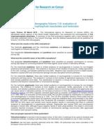 Informe de La IARC