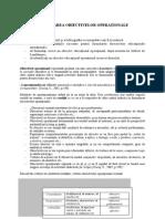 Obiectivele Educationale Operationale