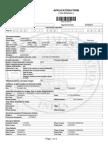 Visa Application Form