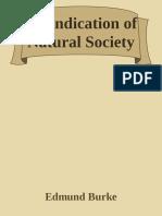 A Vindication of Natural Society - Edmund Burke