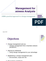 Change Management for Business Analysts-2010-JAN-29