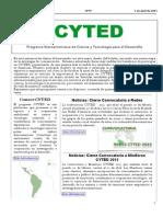 Boletín Cyted Nº19 2015 Web
