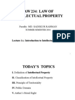 Intellectual Property Law Lecture 1A