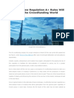Why the New Regulation A+ Rules Will Rock the Crowdfunding World