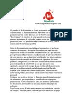 Nota Prensa IU Alpedrete (26-01-2010)