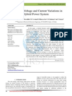 Analysis of Voltage and Current Variations in Hybrid Power System