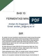 Mikrobiologi Pangan - Fermentasi Minuman
