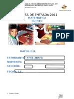PRUEBA DE ENTRADA 5°