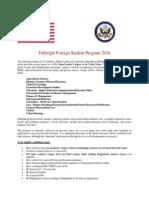 Fulbright Foreign Student Program 2016