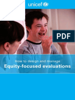Equity Focused Evaluations