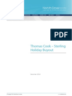 Thomas Cook - Sterling Buyout
