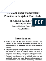 On-Farm Water Management Practices in Punjab.ppt