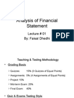 Analysis of Financial Statement Lec#0 01