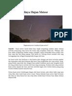 Proses Terjadinya Hujan Meteor