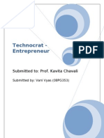 Technocrat - Entrepreneur