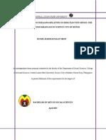 Determinants in encouraging relatives to seek elective officeThesis Final 2
