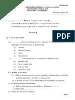 Mfshm- 105- Managerial Economics Set-1