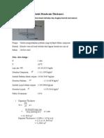 Contoh Perhitungan Untuk Mendesain Thickeners