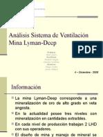 Analisis Sistema de Ventilacion Mina Lyman-Deep