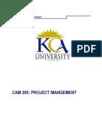 Cam 205. Project Management Final