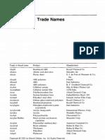 Appendix B - Trade Names