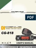 CG 818 Manual