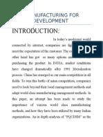 Lean Manufacturing for Future Development