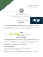 Caruso Claudio Tar 259 2014 Decadenza Assentita Provv 14 6 Giugno 2013 Bellis Ernesta