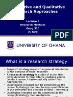 Lecture 4 Quantitative and Qualitative Approaches