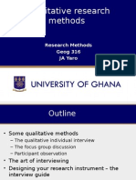 Lecture 5 Methods of Qualitative Research