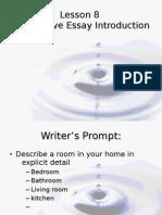 Descriptive Essay Introduction