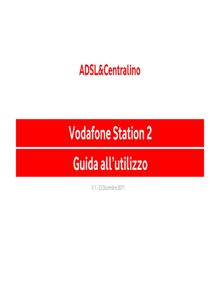 da uploaded con vodafone station