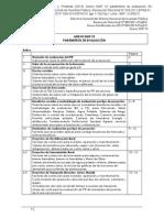 Parámetros de Evaluacion SNIP
