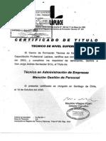 Certificado de Titulo Técnico
