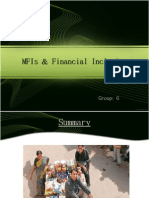 MFIs & Financial Inclusion