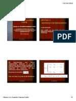 Apuntes de Capitulo 1 y 2 de Evaristo de Algebra Lineal