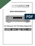 Benutzerhandbuch+Ferguson+AV-770+Heimkino+Amplifier
