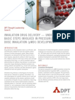 Inhalation Drug Delivery-Understanding Basic Steps Involved in PMDI Development