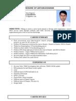 Aktaruzzaman CV