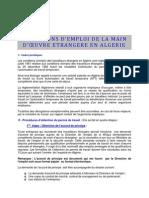 Algerie Permis de Travail