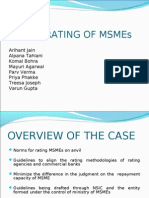 CREDIT RATING OF MSMEs
