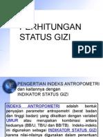 Perhitungan Status Gizi