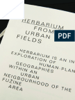 Herbarium From The Urban Fields