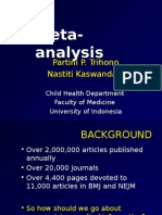 Meta - Analysis - Dr. Nastiti 17 November 2014