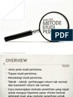 Portofolio Investasi Bab 22 Metode Studi Peristiwa
