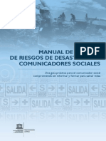 Descarga manual de la Unesco para informar sobre desastres Manual Desastres