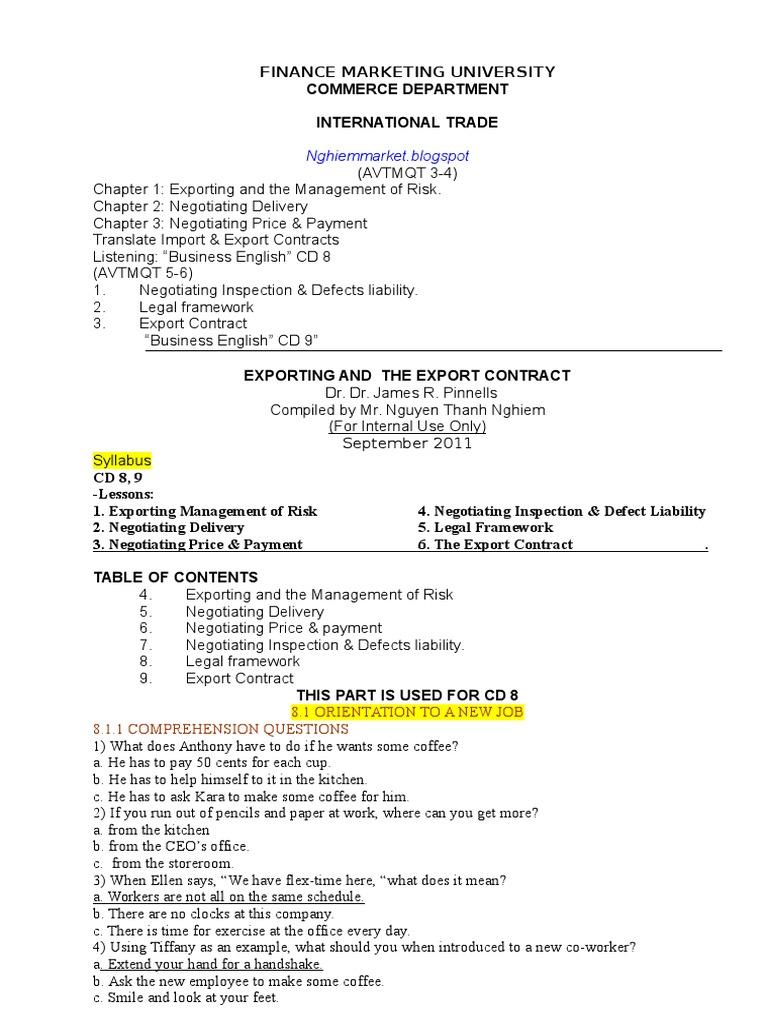 atmqt34 Exports – Export Contract