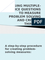 Using Multiple-choice Questions to Measure Problem Solving And